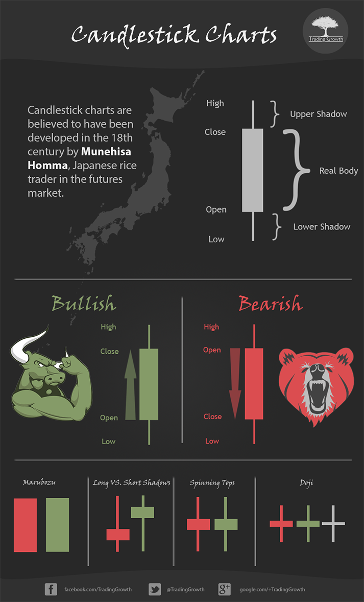 Japanese Candlestick Charts Infographic
